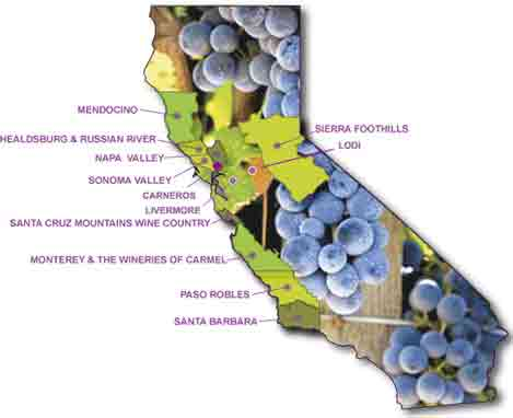 Wine regions wine country getaways for California wine