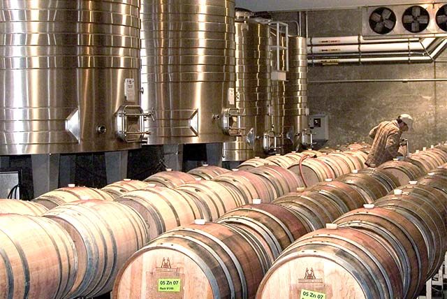 Take a winery tour - Hendry Barrel Room