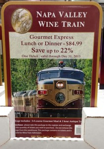 image of the wine train ticket at Costco