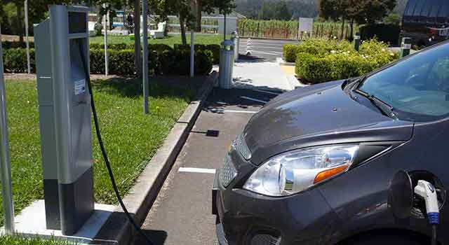 ev station wine country