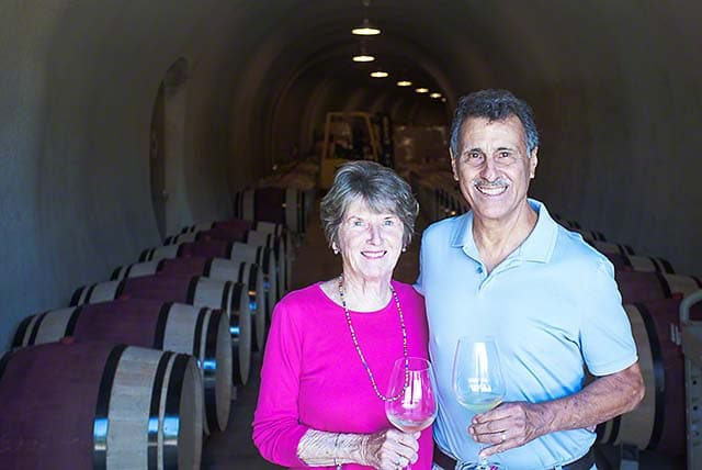 Janelle and Joe at Caldwell Winery in the Coombsville AVA