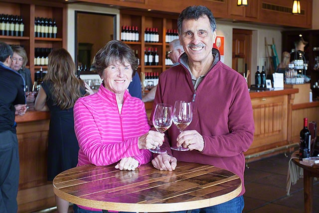 janelle and Joe at the St. Francis tasting room