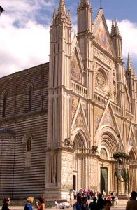 Cathedral at the Piazza Duomoin Orvieto