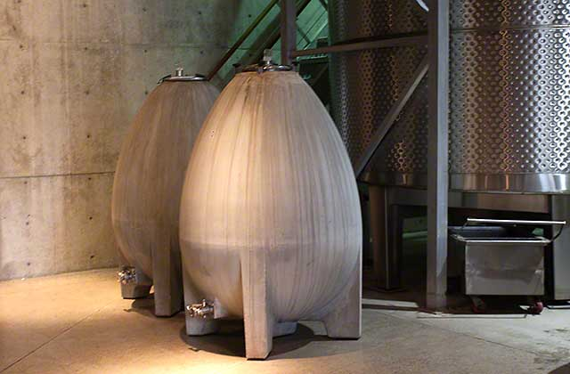 cement wine aging egg